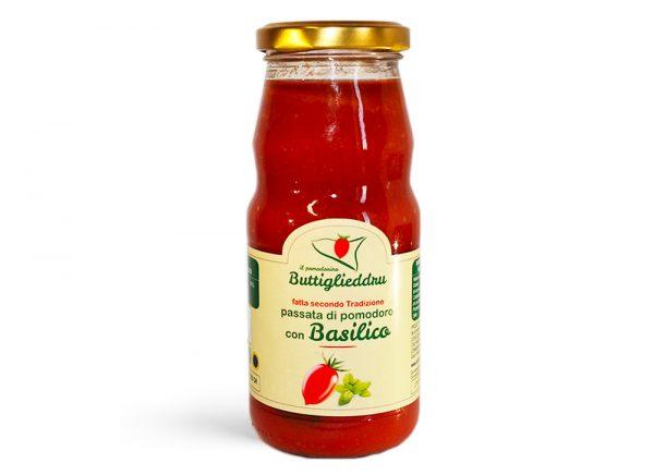 Passata di pomodoro buttiglieddru con basilico 350gr
